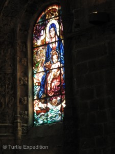 The many beautiful stained glass windows of the Cathedral were impressive.