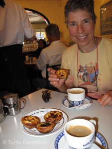 Pastéis de Belém are best eaten warm with a good cup of coffee. They were delicious.