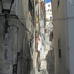 Narrow streets in old Lisbon were fun to wander through.