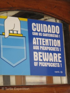 Beware especially on the crowded Tram Line 28!