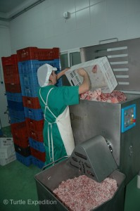 In addition to the famous hams, other parts of the pig are used for normal meat cuts and special aged chorizo sausages.