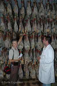 Once the salting process is done, the hams are washed and stored at 3°C to 6°C (43°F to 37°F) for 45 days.