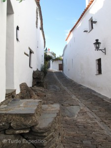 Narrow cobblestone streets invited exploring in search of little gift shops or a café for an Espresso.