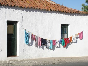These clothes honing in the sun reminded us that we needed to do the same soon.