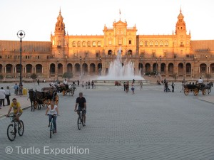 The beautiful Plaza de España complex, once the principal building for the 1929 Ibero-American Exposition World's Fair, is now used for government offices.