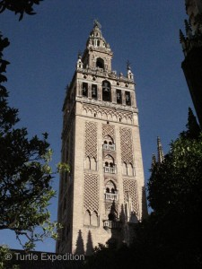 The original Mosque's main minaret was incorporated to form the Giralda bell tower.