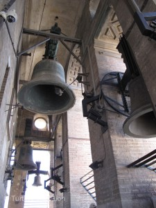 Climbing to the top of the Giralda bell tower, I checked my watch. Please, PLEASE---don't ring the bells!!