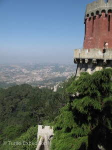 The view from one of the watch towers at the National Pena Palace was spectacular.