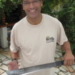 "Being a 4X4 enthusiast, Soares got a big smile when he saw my Madagascar Camel Trophy ""You Made It"" machete."