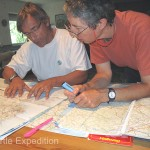 Monika and Soares checked our maps, marking many spots we could visit on our way south in Portugal.