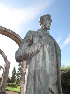 A previous owner of the Bacalhôa winery had acquired this classic statue of Abraham Lincoln.