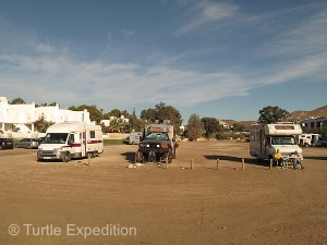 The free camping area of Agua Amarga was less than 100 yards from the water.