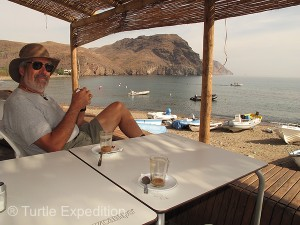 Cafés along the beach were inviting in the afternoon for a cold beer or a cafe con leche.