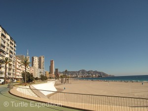The Benidorm main beach was world class.