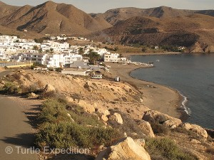 The small town of Las Negras was just over the hill from our camp at La Caleta.