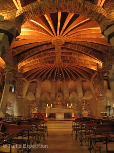 Antoni Gaudí's Crypt incorporates many of his architectural inventions.