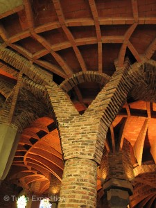 Gaudí incorporated many form from nature. The structural columns resemble trees in a forest.
