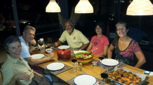 A joint dinner with the Schebesta family was a great way to become instant friends!