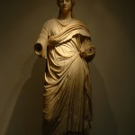 As we had seen in Portugal's Mafra Cathedral, (see Mafra, Portugal blog), we were astounded by the details of this marble statue, probably of Poppaea Sabina, second wife of Nero as a priestess. Note the folds of the robe and the hair. Too bad she never met David, (see Florence, Italy blog).