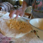 One of her specialties was a loaf stuffed with fresh crumbled homemade cheese.