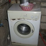 They did have a modern type wash machine but it looked like it was on its last leg.