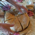 Before we left, we were able to taste this delicious homemade cheese filled bread.