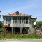 This Soviet era type home was typical for the area.