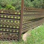 Fences were often made using any material available including old military airstrip landing mats.