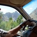 The Pamir from the Wakhan Corridor turnoff was paved---sort of. Convoys of overloaded Chinese semi tractor trucks have pretty much trashed it beyond repair.