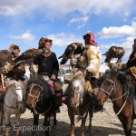 Over 70 Kazakh Golden Eagle hunters had assembled for this once a year event, all dressed in their typical Mongolian Kazakh attire.