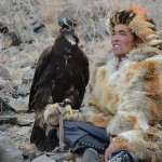 Mongolian Kazakh Golden Eagle hunters spend many years training their beautiful birds and gain their confidence.
