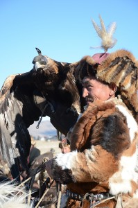 The close relationship between the hunter and his golden eagle was amazing to observe.