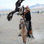 Mission accomplished. The eagle was given a free ride in front of the judging stand.
