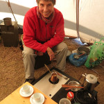 Monika prepared authentic Turkish coffee which Lee had never tasted.
