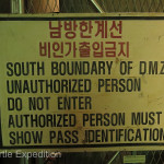 Security was tight on the South Korean side. We were thoroughly checked and verified before receiving our passes to enter.