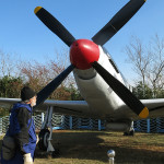 This P51 Mustang was on display at the DMZ's Unification Observatory.