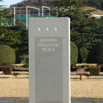 """The monument in the American section says all. """"HONOR, FREEDOM, PEACE""""."""