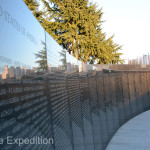 This wall lists all the US service members lost in the Korean War.