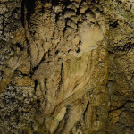 The high rate of water flow has prevented the building up of more typical stalagmites and stalactites but there were amazing examples of flowstones, brimstones, popcorn, pipes and curtains.