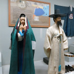 The Andong Folk Museum had several displays with life-size figures that really gave us a great feeling of how people traditionally dressed. During the Joseon Dynasty there was a basic form of the Korean costume. Decorations or colors changed depending on the status of the wearer.