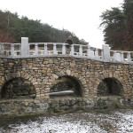 This beautiful stone bridge was carefully reconstructed in the Andong Historical Park.