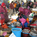 Women do most of the bargaining and selling. Temperatures were cold enough that fish did not need to be kept on ice. Wonder what they do in the summer.