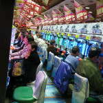 Slot machine arcades were amazingly popular.
