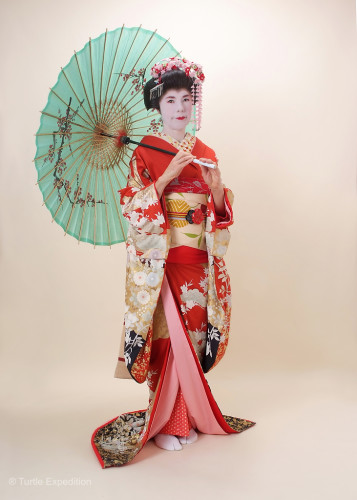 Presenting my personal Geisha. I thought about renting her out, but she couldn't sing nor play cards in Japanese.