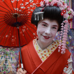 It's hard to get a Geisha to smile.
