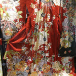 The beautiful silk used for the kimonos is often hand painted.