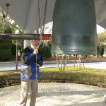 The Bell of Peace was dedicated by Hiroshima Higan-No-Kai. Everyone is encouraged to ring it with a wish for Peace.