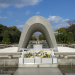 This monument embodies the hope that Hiroshima, devastated on August 6, 1945 by the world's first atomic bombing, will stand forever as a City of Peace. It expresses the spirit of Hiroshima—enduring grief, transcending hatred, pursuing harmony and prosperity for all, and yearning for genuine lasting World Peace.