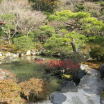 The gardens surrounding the Ginkakuji Temple in Kyoto were a classic example of Japanese landscaping.