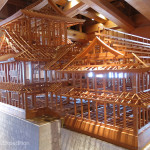 This model shows the kind of intricate architecture being used to restore the Kanazawa castle.